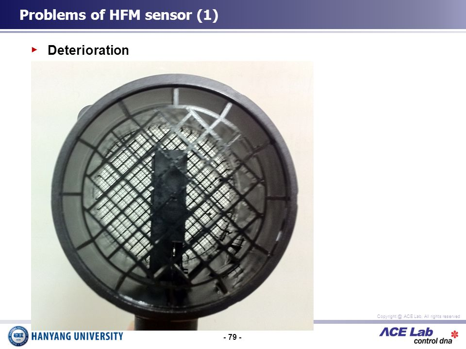 - 79 - Copyright @ ACE Lab, All rights reserved Deterioration Problems of HFM sensor (1)