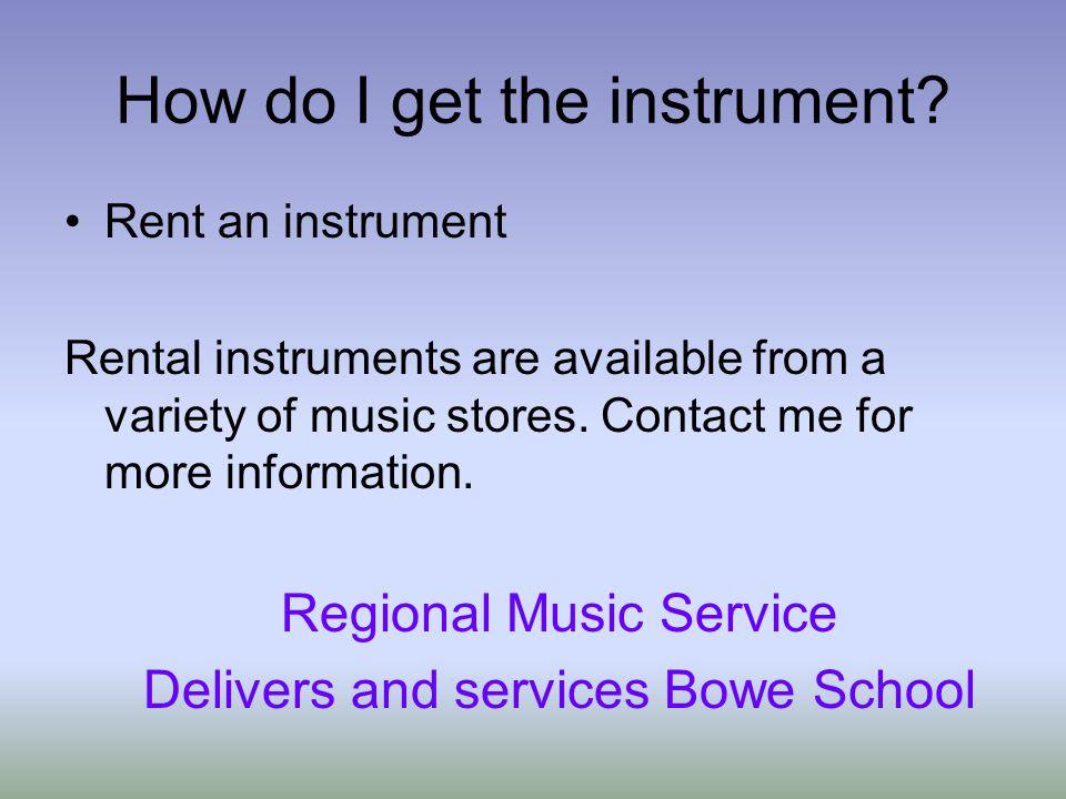 How do I get the instrument.
