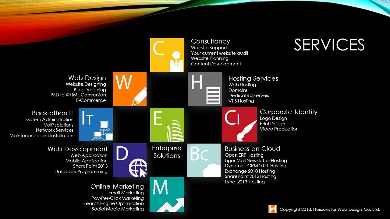 WEB DESIGN Copyright 2013. Horizons for Web Design Co. Ltd.
