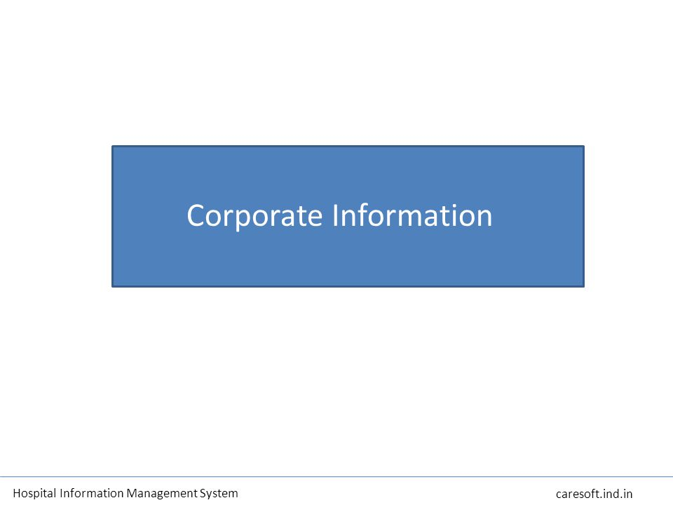 OFFERINGS Powered by IBM Smart Cloud Corporate Information Hospital Information Management System caresoft.ind.in