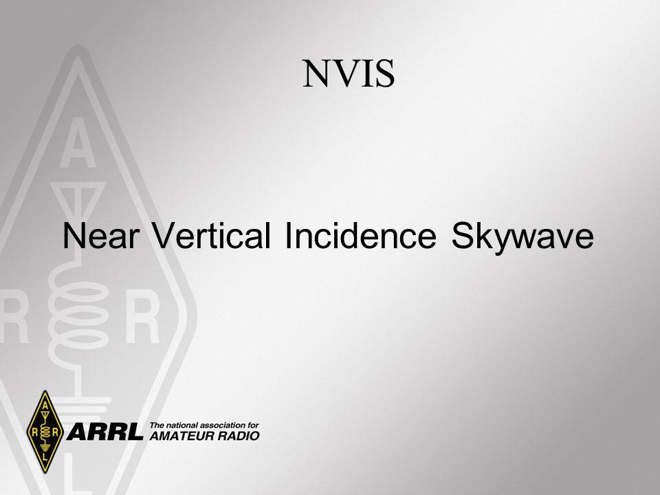 Near Vertical Incidence Skywave NVIS