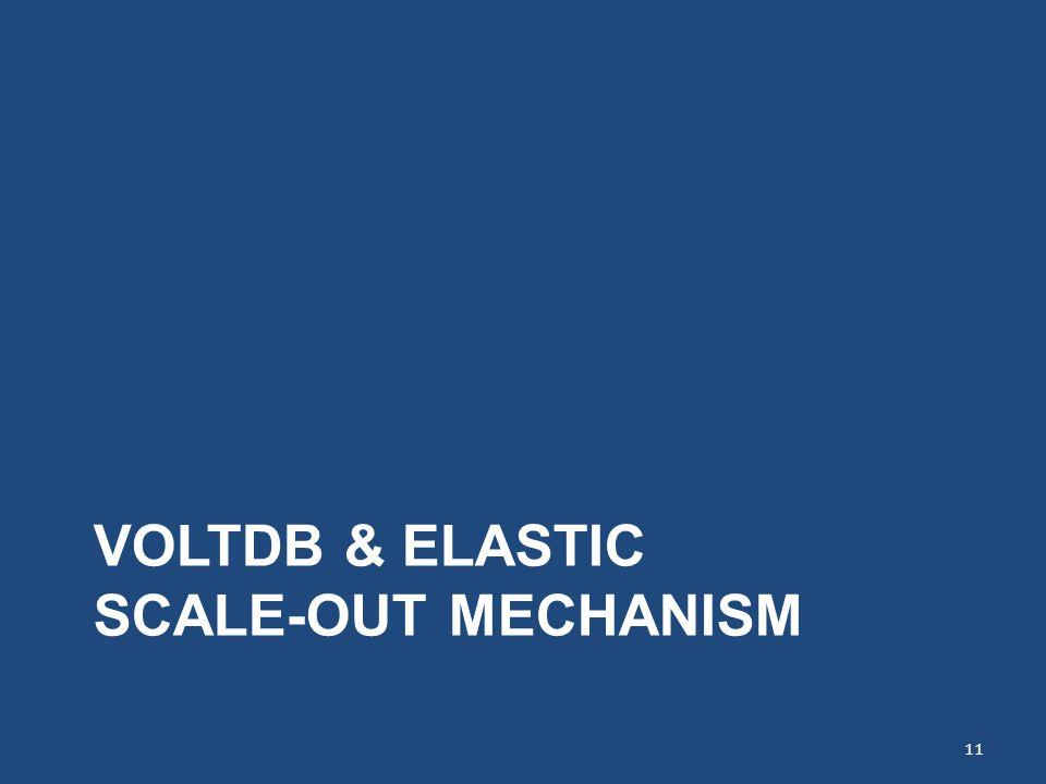 VOLTDB & ELASTIC SCALE-OUT MECHANISM 11