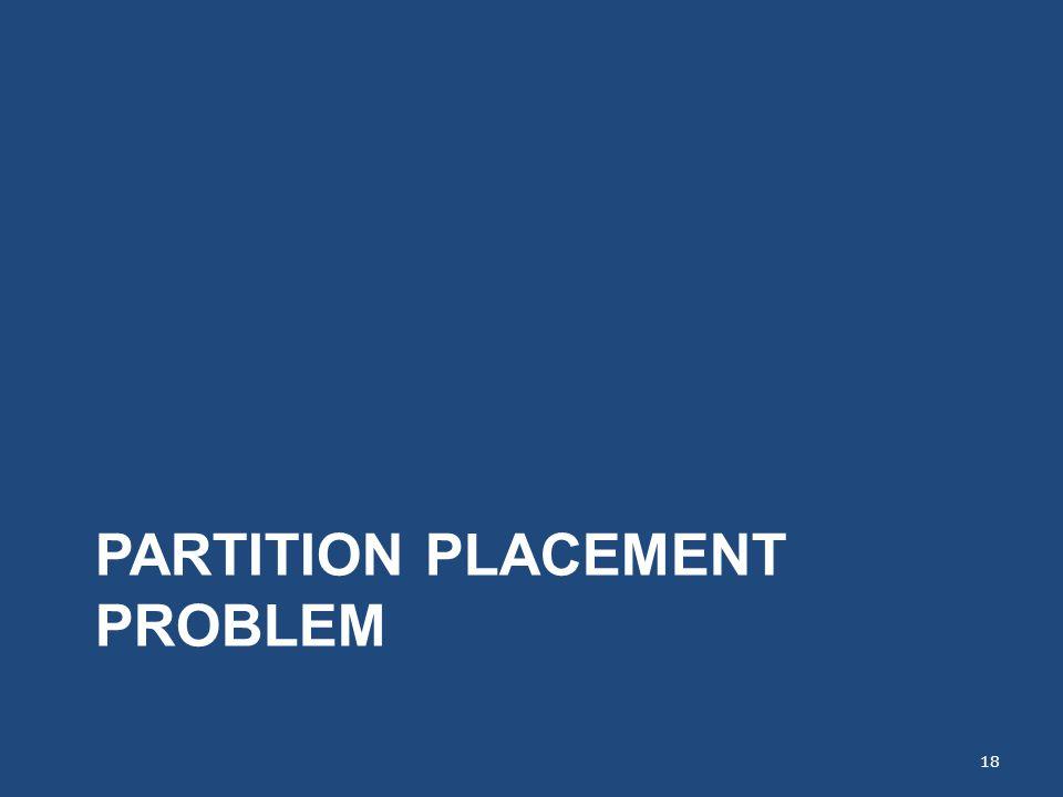 PARTITION PLACEMENT PROBLEM 18