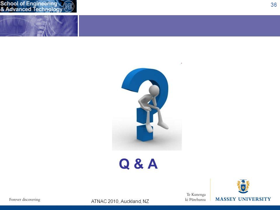 ATNAC 2010, Auckland, NZ Q & A 36