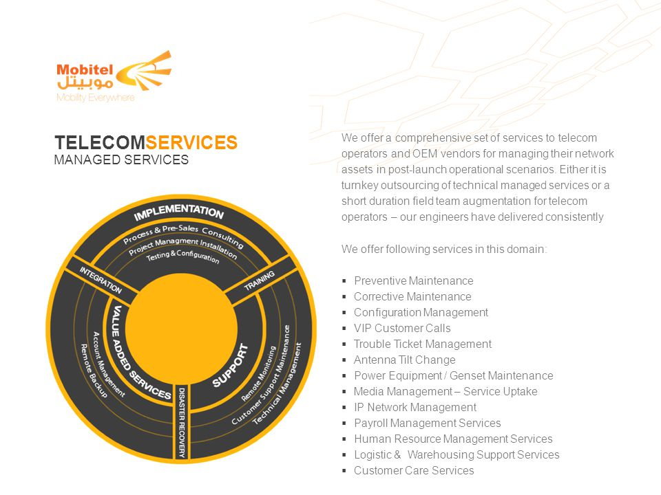 We offer a comprehensive set of services to telecom operators and OEM vendors for managing their network assets in post-launch operational scenarios.