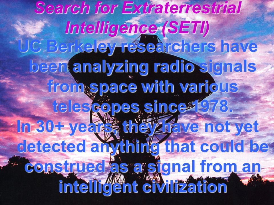 Option #2: ETs Sending UFOs to Earth Distance problem Velocity problem Time problem Weight problem Numbers problem Alien intelligence will have to conform to the laws of physics as we know them.