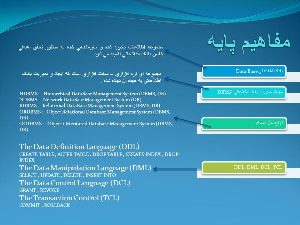 مجموعه اطلاعات ذخيره شده و سازماندهي شده به منظور تحقق اهدافي خاص بانک اطلاعاتي ناميده مي شود.