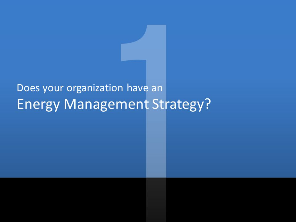 Does your organization have an Energy Management Strategy?