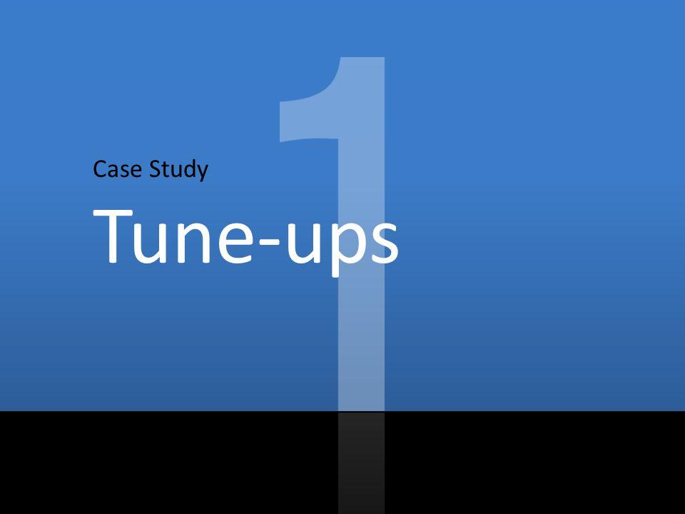 GOAL 25% savings in 3 years Case Study: Tune-ups