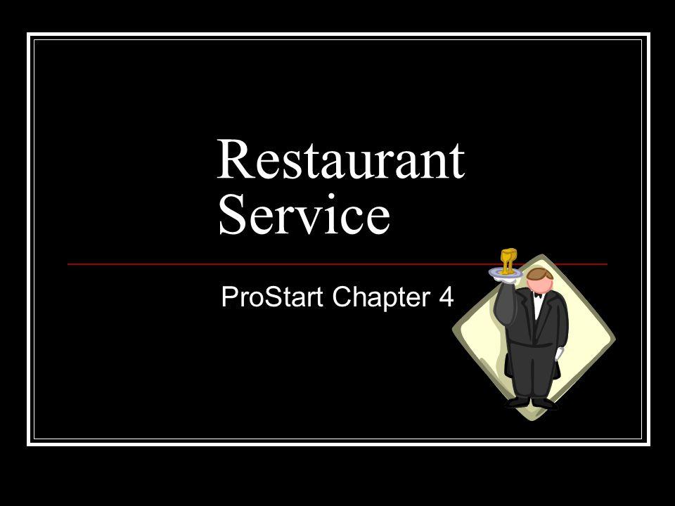 Restaurant Service ProStart Chapter 4