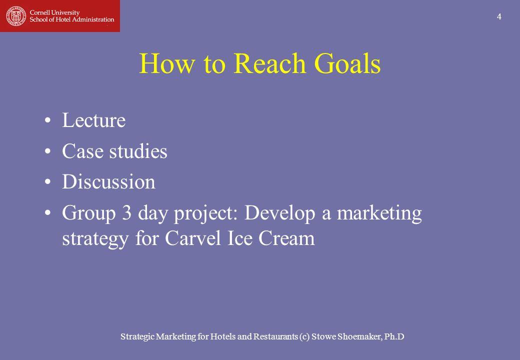 15 Strategic Marketing for Hotels and Restaurants (c) Stowe Shoemaker, Ph.D