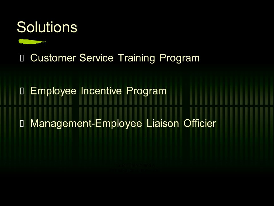 Solutions Customer Service Training Program Employee Incentive Program Management-Employee Liaison Officier