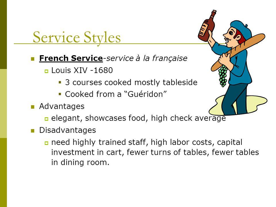 Service Styles Platter Service - Russian service, or service à la russe in U.S.