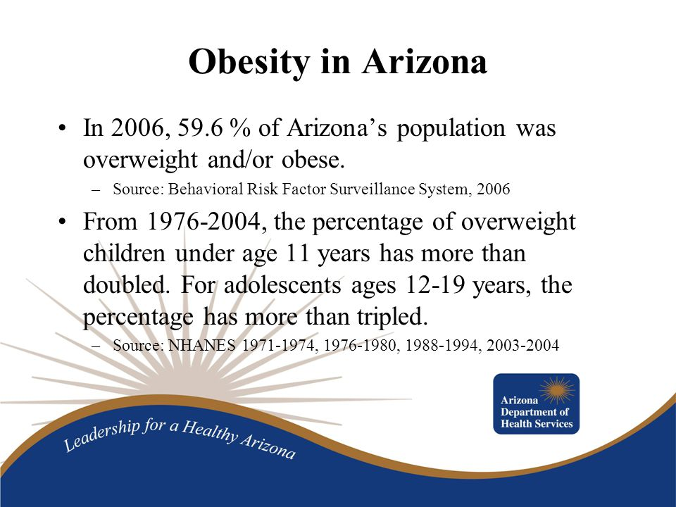 Arizona Smart Choice Program Nutrition guidelines adapted from the Colorado Physical Activity and Nutrition Program (COPAN) Marketing materials developed –Fact Sheet –Implementation Guide –Brochure –Window Decals and Menu Stickers –Website: www.azsmartchoice.com