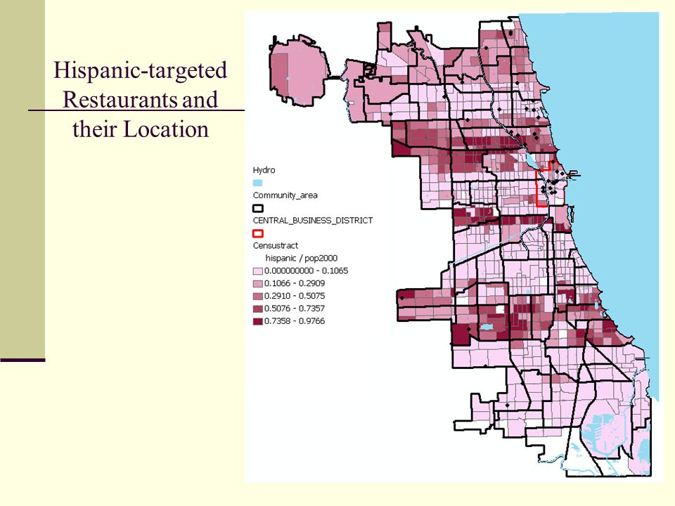 Hispanic-targeted Restaurants and their Location