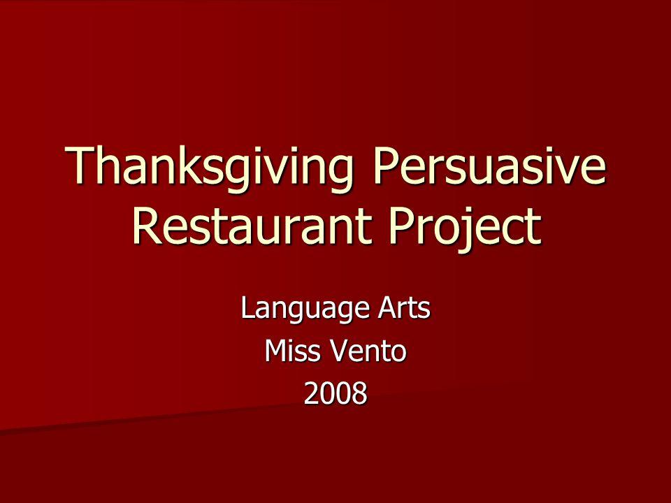 Scoring Restaurant Name & Slogan 5 Points Advertisement5 Points Menu15 Points Presentation20 Points Reflection5 Points TOTAL50 POINTS