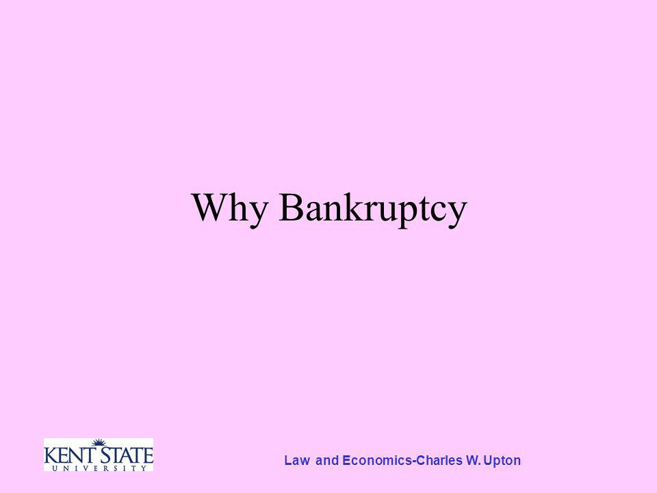 Law and Economics-Charles W. Upton Why Bankruptcy