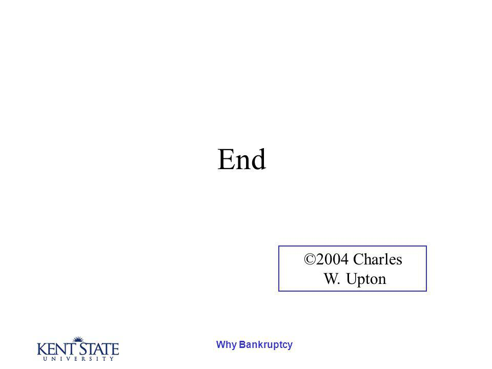 Why Bankruptcy End ©2004 Charles W. Upton