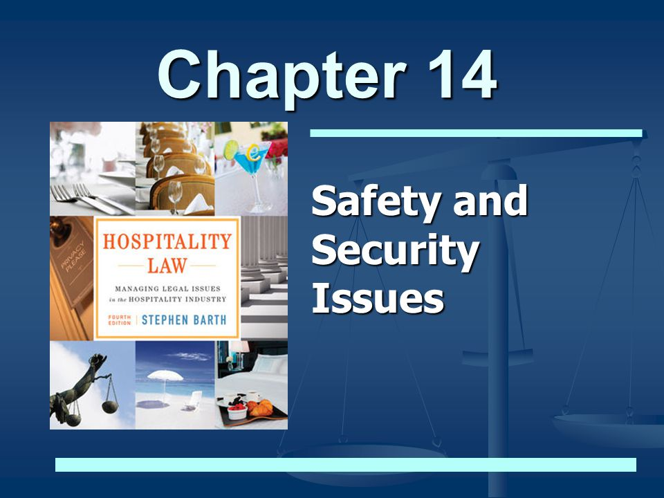 Chapter 14 Safety and Security Issues