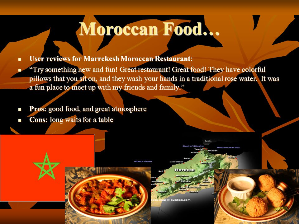 Moroccan Food… User reviews for Marrekesh Moroccan Restaurant: User reviews for Marrekesh Moroccan Restaurant: Try something new and fun! Great restau