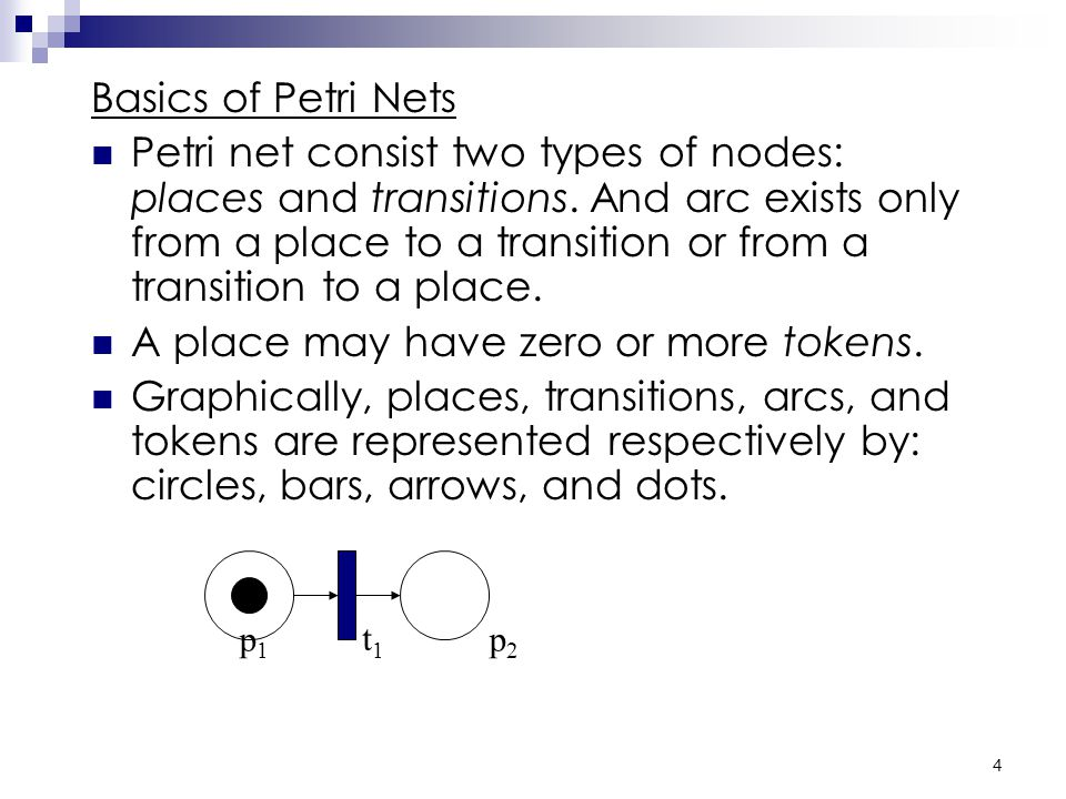 3 Applications of Petri Net Petri net is primarily used for studying the dynamic concurrent behavior of network-based systems where there is a discrete flow.