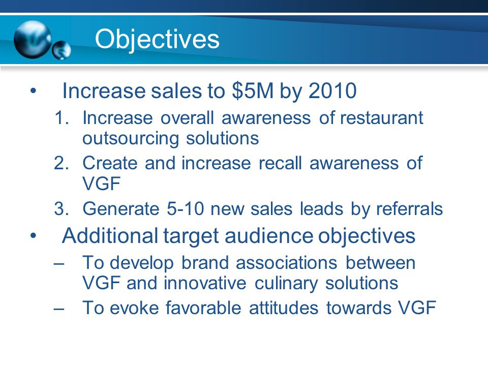 Strategy Overview Primary Target Audience –Advertising –Sales Promotions –Direct Marketing –Public Relations Secondary Target Audience –Event Marketing –Personal Selling Tertiary Target Audience –Direct Marketing –Sales Promotions