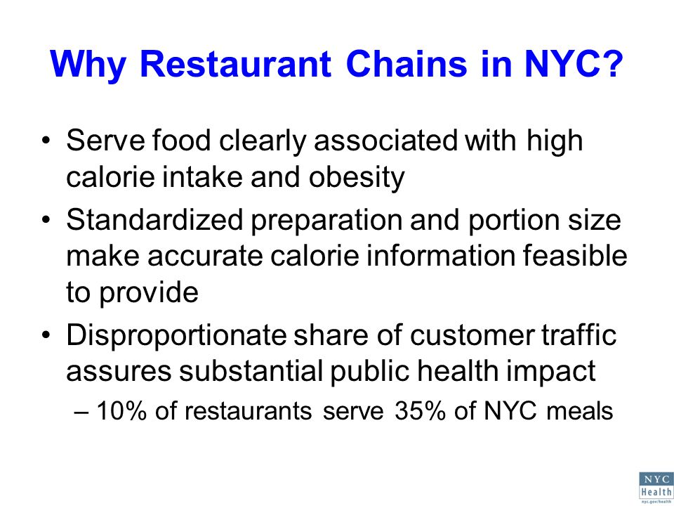 Why Restaurant Chains in NYC.