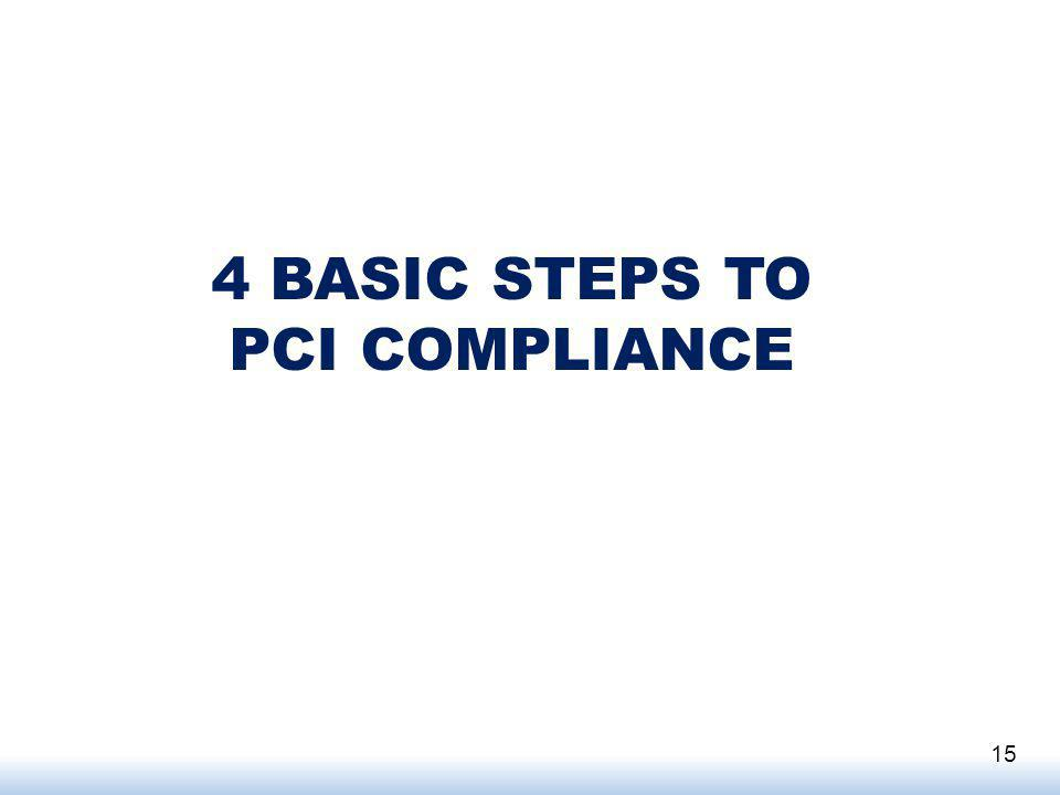 4 BASIC STEPS TO PCI COMPLIANCE 15