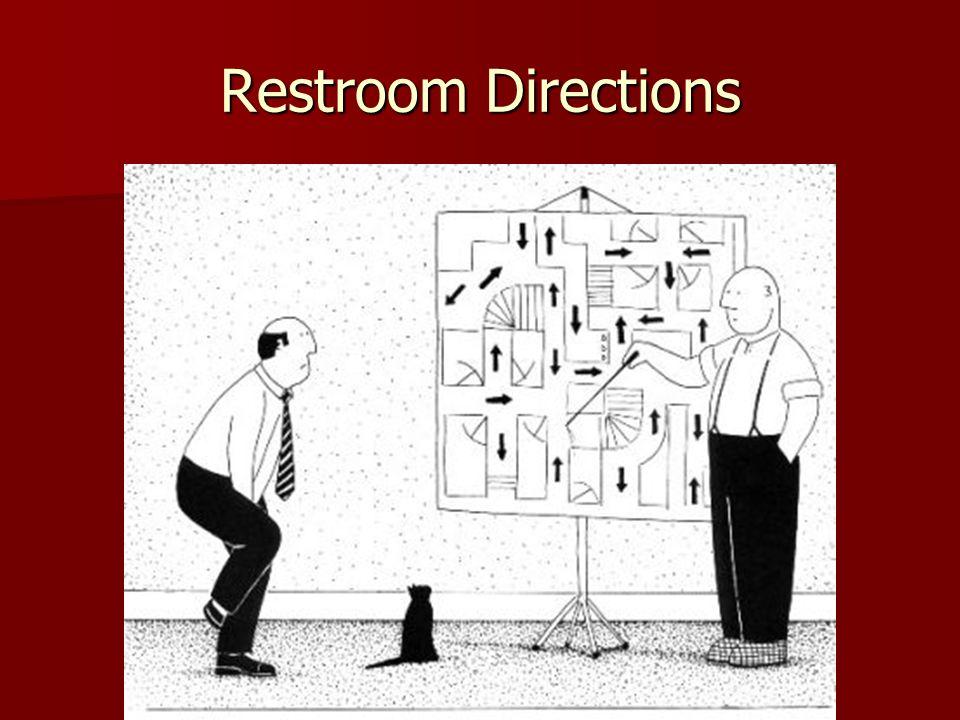 Restroom Directions