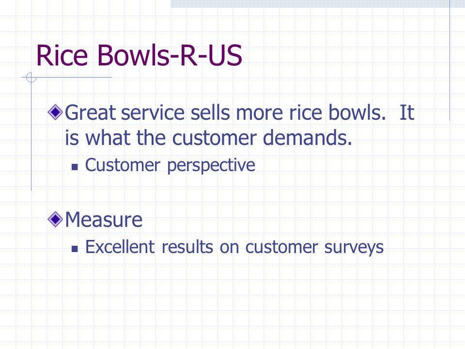 Rice Bowls-R-US Great service sells more rice bowls.