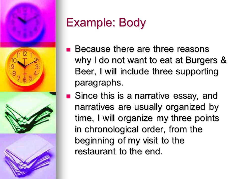 Example: Body (cont.) 1.