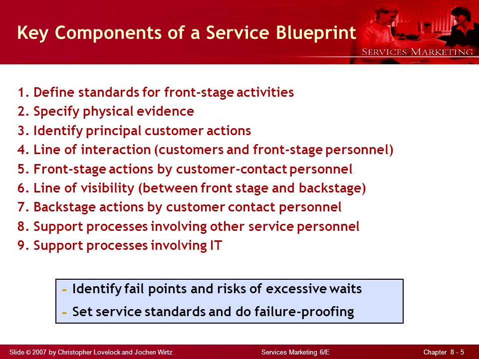 Slide © 2007 by Christopher Lovelock and Jochen Wirtz Services Marketing 6/E Chapter 8 - 26 Six Types of Jaycustomers: The Thief No intention of paying sets out to steal or pay less Services lend themselves to clever schemes to avoid payment For example: bypassing electricity meters, circumventing TV cables, riding free on public transportation Firms must take preventive actions against thieves, but not alienate honest customers by degrading their service experience Make allowances for honest but absent-minded customers