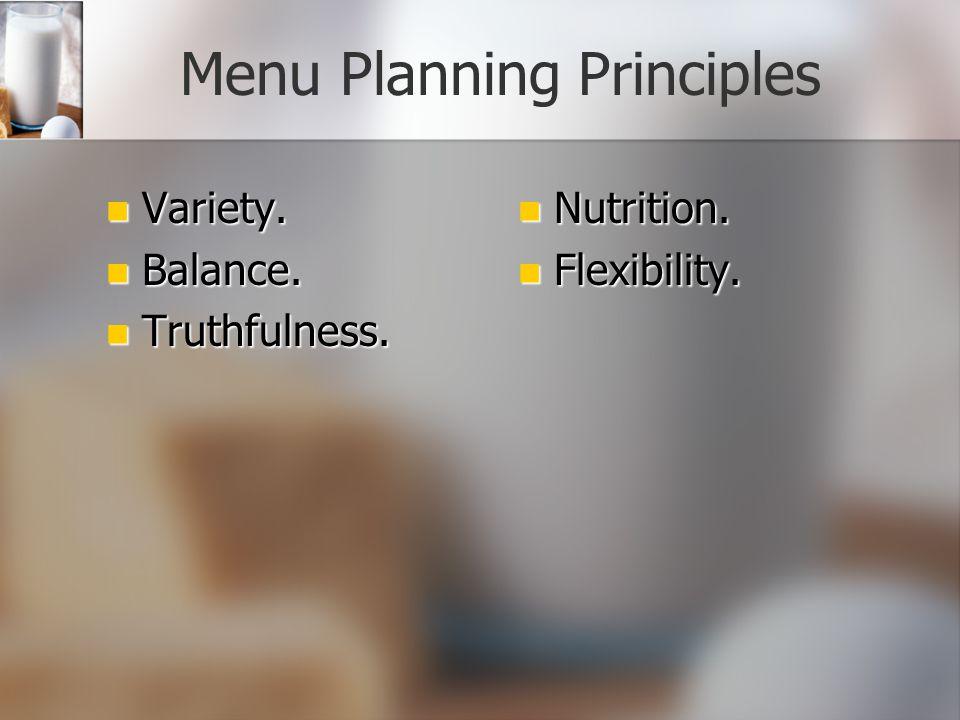 Planning Menus