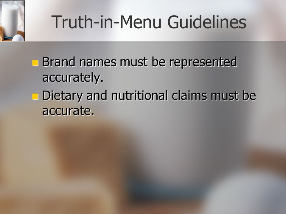 Menu Planning Principles (continued) Nutrition: Nutritious, appealing, and well-prepared meals. Nutrition: Nutritious, appealing, and well-prepared me