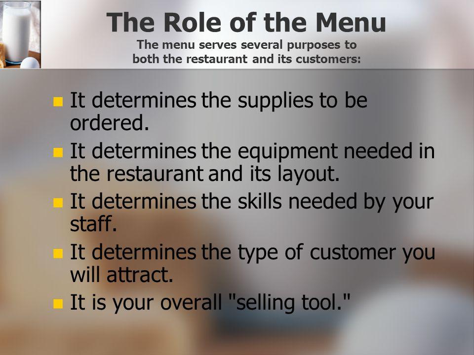 Menu Planning Culinary Technology Unit 4 2007