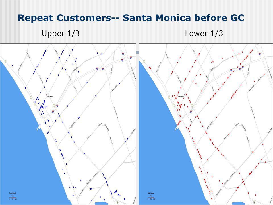 Repeat Customers-- Santa Monica before GC Upper 1/3Lower 1/3