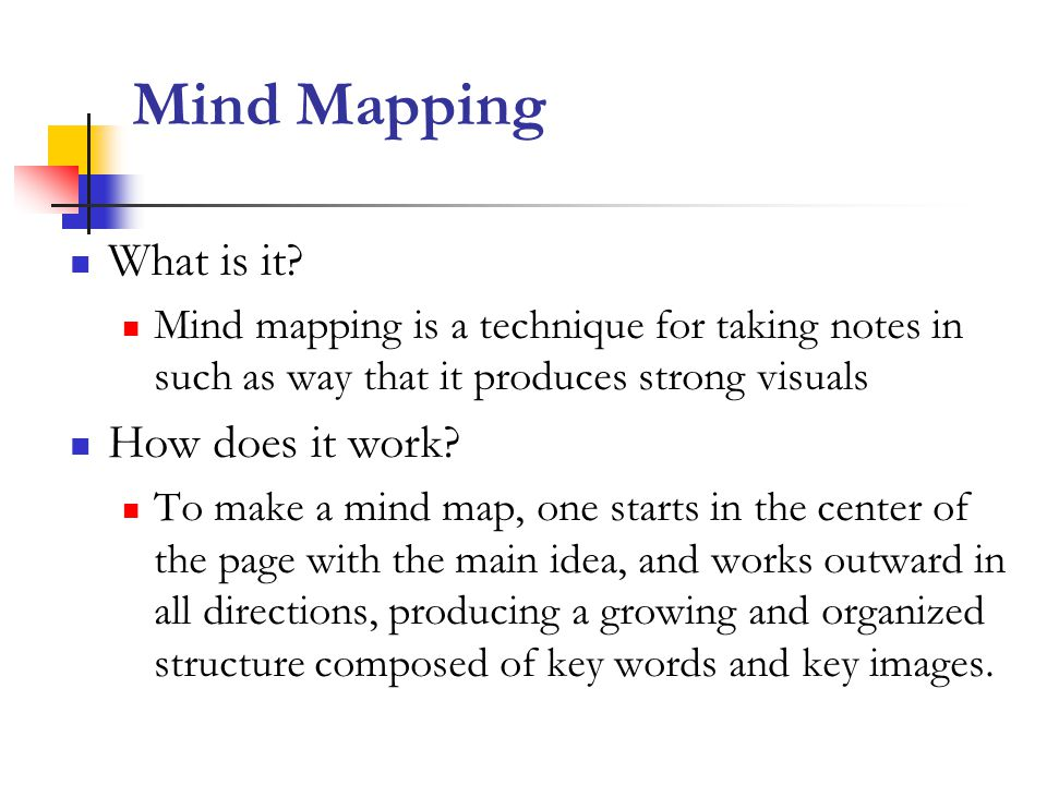 Mind Mapping What is it.