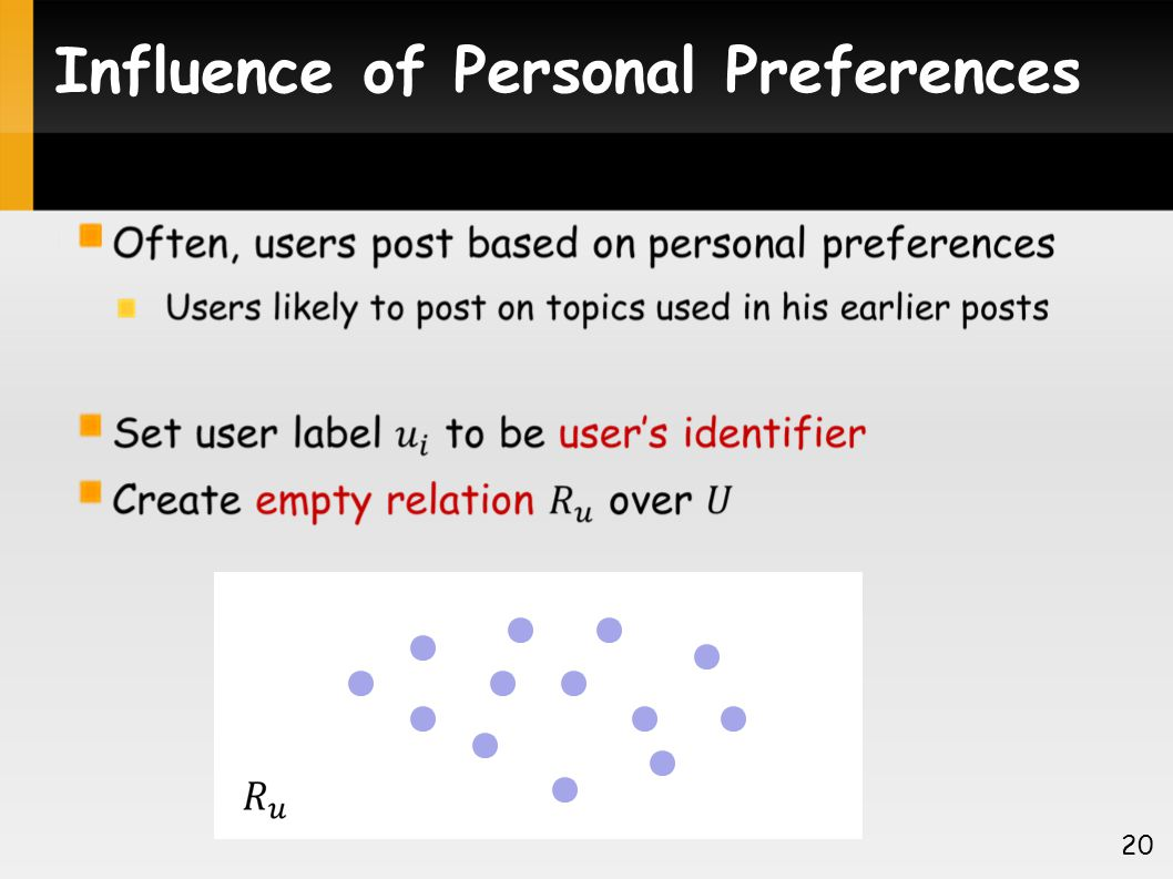 Influence of Personal Preferences 20