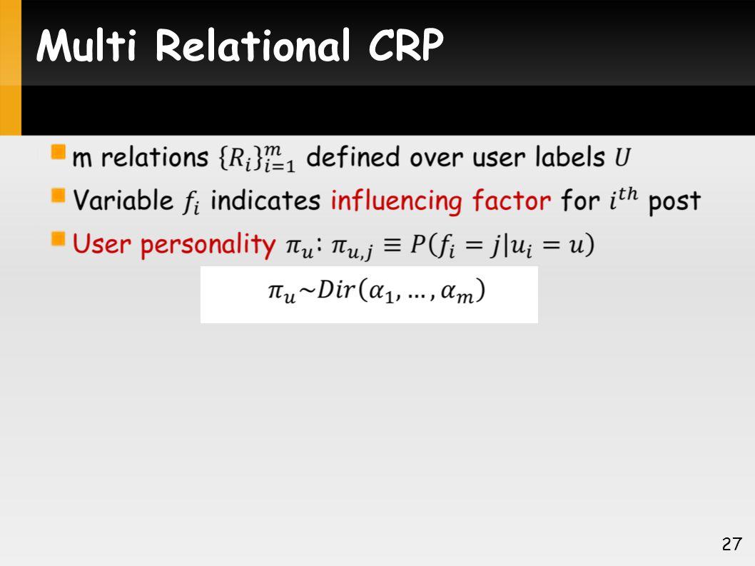 Multi Relational CRP 27