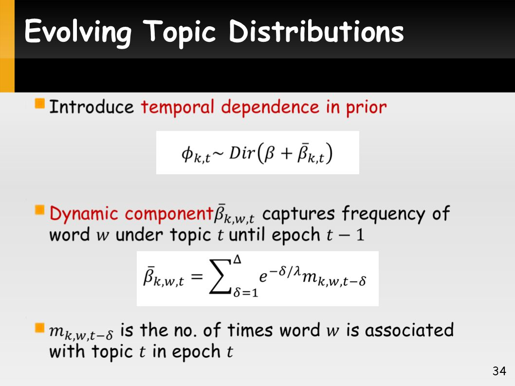 Evolving Topic Distributions 34