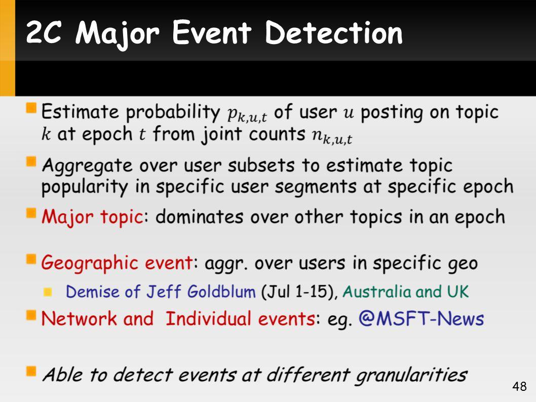 2C Major Event Detection 48