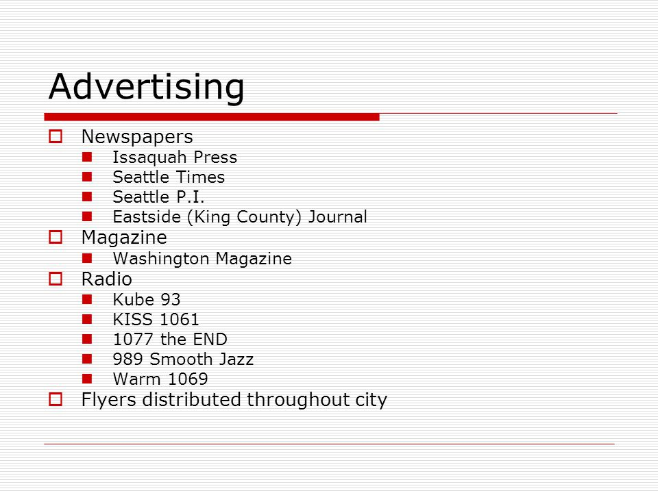 Advertising Newspapers Issaquah Press Seattle Times Seattle P.I.