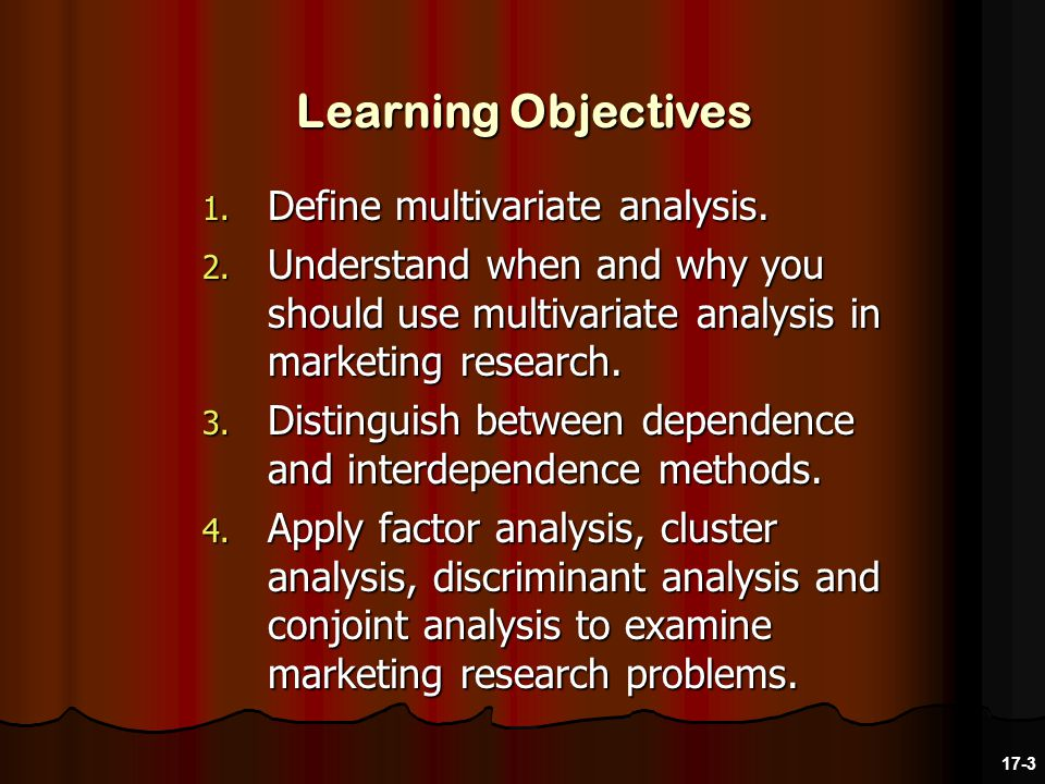1. Define multivariate analysis. 2.