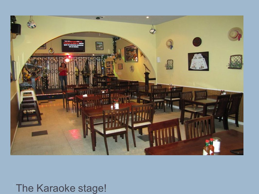 The Karaoke stage!