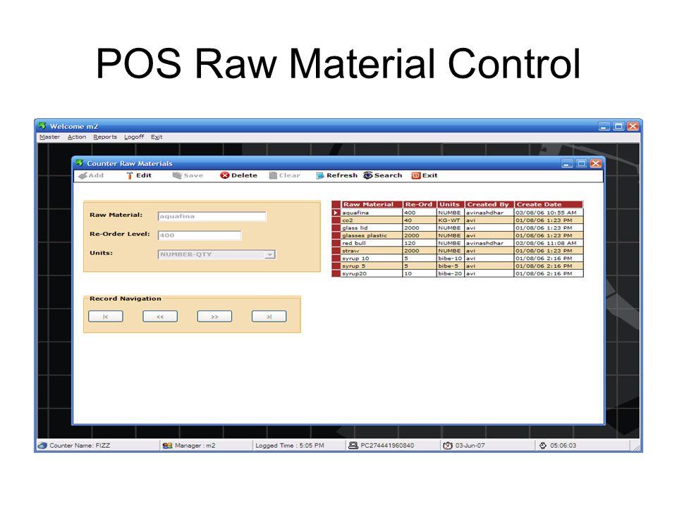 POS User Control