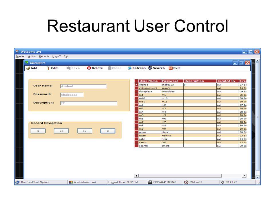 Admin User Control