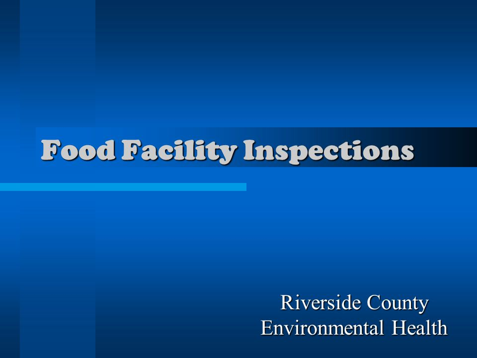 Food Facility Inspections Riverside County Environmental Health