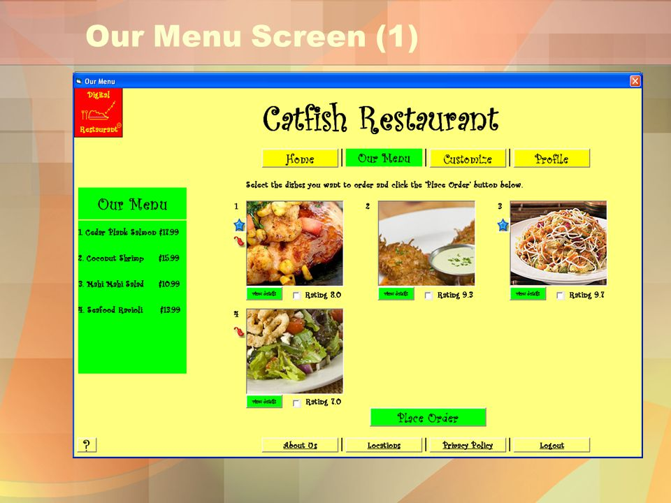 Our Menu Screen (1)