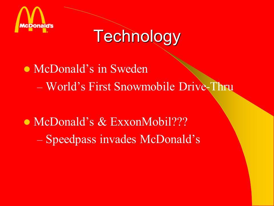 Technology McDonalds in Sweden – Worlds First Snowmobile Drive-Thru McDonalds & ExxonMobil??? – Speedpass invades McDonalds