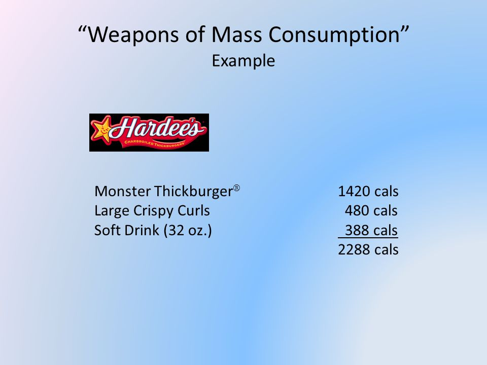 Case Examples Example #3c – Restaurant Initiatives Capping Combos Example Little Thick Cheeseburger 470 cals Small Crispy Curls 260 cals Diet Dr.